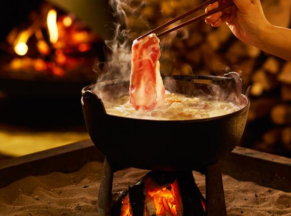 火床のお料理